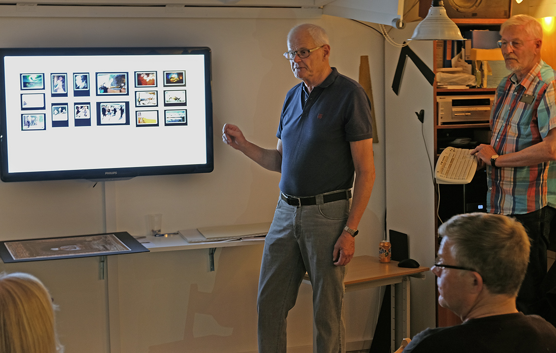 Finn Worsøe fortæller om planlægning af fotoudstilling