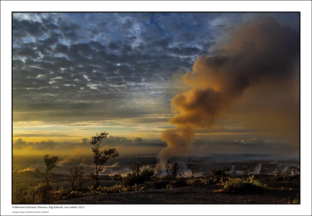 Jesper Plambech Vulkanen Kilauea, Hawaii Big Island 2013