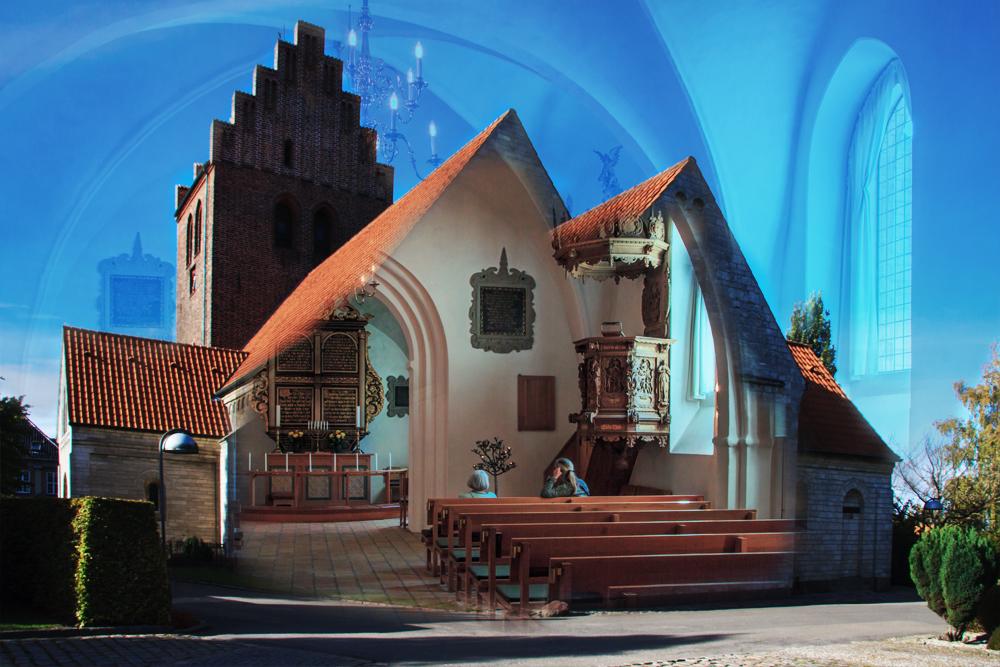 Farve 1.plads René Wedel: Kirke ude og inde